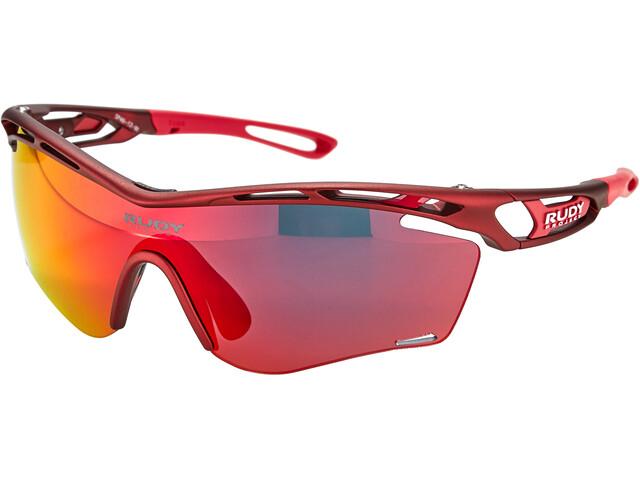 Rudy Project Tralyx Slim Okulary rowerowe, czerwony/czarny